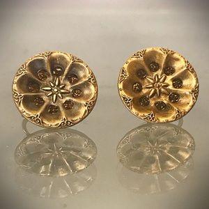Antique P B & Co. Deponirt  Button Earrings